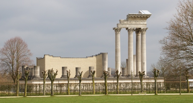 Reconstructed Harbour Temple at Xanten Archeological Park