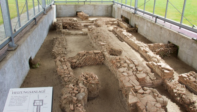 Excavated central heating system at Xanten