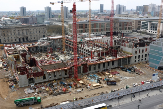 This is how far construction had proceeded on 7 April 2014 - just 14 months before topping out.