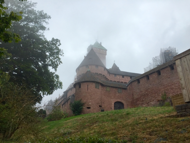 The castle seen on a particularly grim day. Due to its situation far above the plains below, you may end up with your head in the clouds.