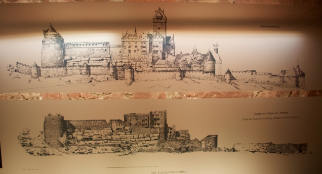 Bodo Ebhardt's drawings of the ruins and plans for reconstruction