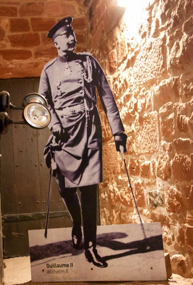 At last returned to the castle he had restored - Kaiser Wilhelm II.