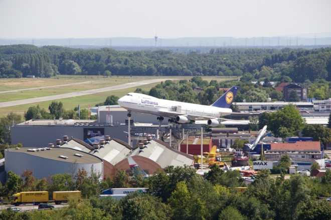 From the Cathedral tower, you can see the Technikmuseum with its hallmark 747.
