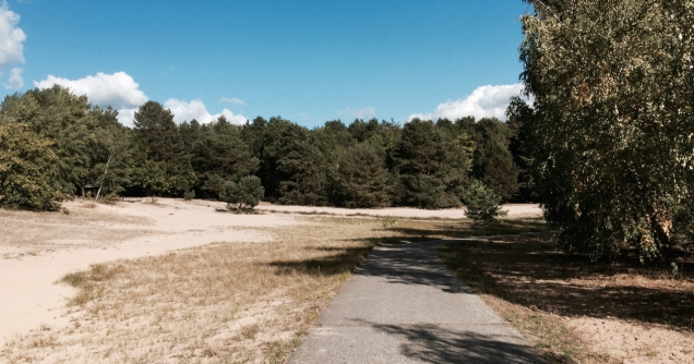 The Berlin Wall Trail near Hennigsdorf. One of the few places where the former death strip still looks original.